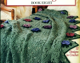 A YEAR Of AFGHANS Book Eight Leisure Arts 2939 12 Designs to Crochet c. 1997