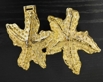 Large Starfish Buckle MiMi Di N Partial Buckle Half of Belt Buckle Supply Part Necklace GOLD Tone