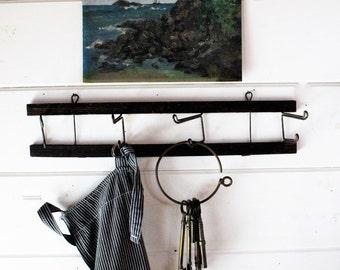 Victorian Coat Rack - Wall Rack - Hat Rack - Swivel Hooks - Eastlake