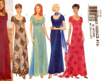Butterick 5368 Sewing Pattern for Misses'/Misses' Petite Dress and Scarf - Uncut - Size 6, 8, 10