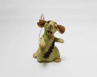 Memo Zombie Rat Sculpture Dumbo Pet Rat Ornament Horror Fancy Rat Figurine Memo Note Holder