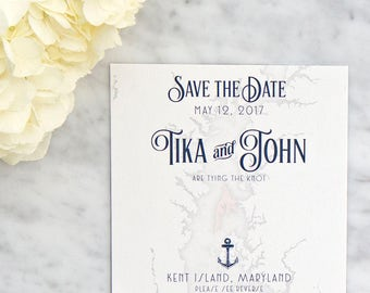 Chesapeake Bay Map Save the Date