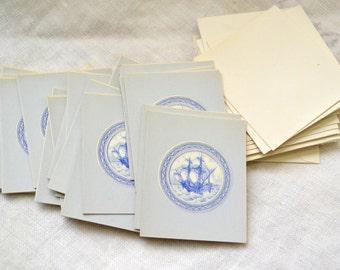 1940s NOS Delft Ship Gift Cards, Set of 22