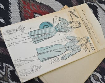 1940s Advance Dress Pattern, #3020, Size 16 (34 Bust, 35 Hip, 28 Waist)