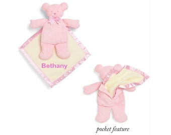 """10"""" Personalized Baby Bear Cozy - Pink"""