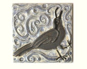 Raven 4x4 Arts and Crafts MUD Pi handmade ceramic tile