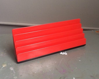 Vintage Rexite PODIO 921 Red Letter organizer Designed by Rino Pirovano made in Italy Vintage office 1970s