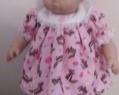Chipmunk Dress and Bloomers for 15 inch Bitty Baby Doll
