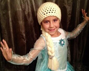 Yarn Elsa Wig