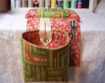Scrap Bag Pincushion Organizer - Scrap Bag - Thread Catcher - Snippets Basket - Quilters Gift - Crafters Scrap Bag - Scrap Caddy
