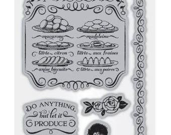 Cafe Parisian 2 - Cling Mounted Rubber Stamp Set from Graphic 45