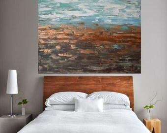 MADE TO ORDER-Large Room Art, Landscape Desert Meets Beach Ocean Art by MyImaginationIsYours