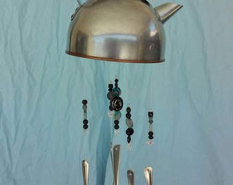 Tea kettle spoon windchime handmade