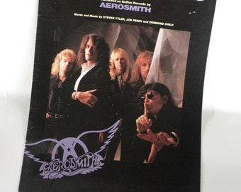 AEROSMITH Sheet Music Piano Vocal Guitar- 9 Pages- 1989 Etsy Christmas Sale