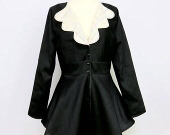 Black and White Jacket - Reversible - Black Jacket - Plaid
