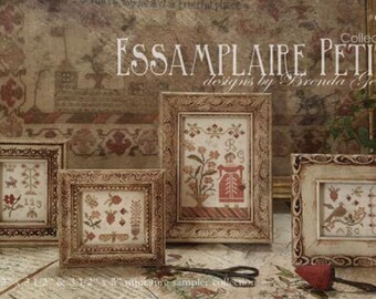 WITH THY NEEDLE Essamplaire Petite Collection 1 counted cross stitch patterns at thecottageneedle.com sampler
