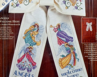 Dimensions | Counted Cross Stitch Kit | ANGELS WELCOME HERE | Front Door Bow | James | Jim Himsworth