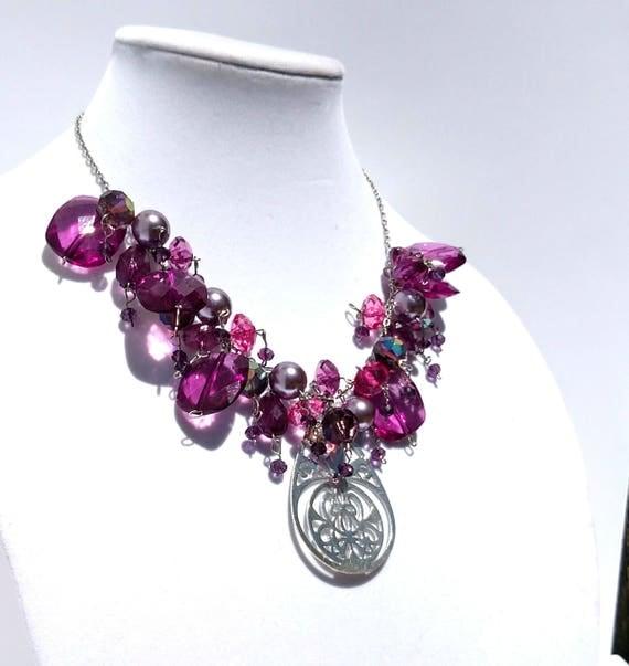 Purple Cascade Necklace