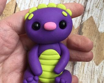 Little Purple Monster- Polymer Clay Sculpture - Cake Topper Keepsake - Art by Sarah Price
