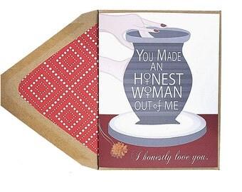 Honest Women - Valentines Card, Love, Lesbian, LGBT, for her, wife, girlfriend, same sex