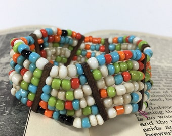 Vintage Bead and Wooden Bracelet