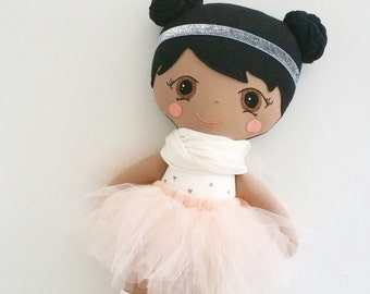 Cloth doll-Handmade cloth doll ballerina-custom cloth doll-personalized cloth doll-Created your own custom doll