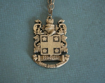 Personalized Family Crest Pendant Coat of Arms - personalized with your family crest