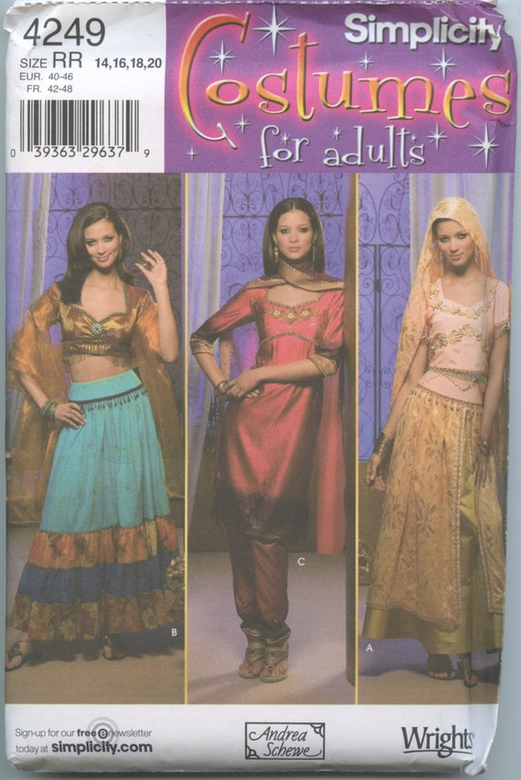 Simplicity 4249 Sari, Middle Eastern, Belly Dancer Gypsy Sewing ...
