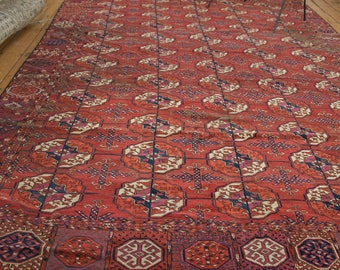 DISCOUNTED 7x11 Distressed Antique Tekke Carpet