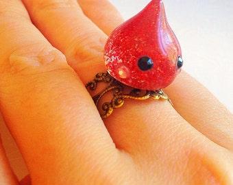 Kawaii Hoppe Chan Ring - Japanese, Haru Juku, Sweet Lolita, Cute, Cream, Swirl, Droplet, Kawaii Gift