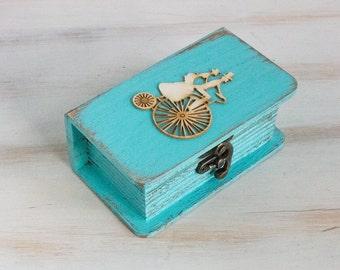 Turquoise ring box Wedding box Ring bearer Box I Do / We Do ring box Personalized Ring Bearer Box Wedding ring holder Engagement Ring Box