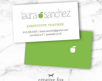 substitute teaching business cards