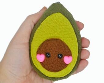 Avocado plushie keychain/ bag charm  keyring stuffed toy soft toy stuffie vegetable vegan charm