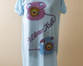 NOS Oversized T Shirt Night Gown Pillow Talk Small Medium
