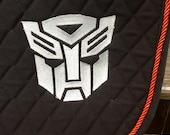 Transformers Logo Embroidered Saddle Pad - Autobots or Decepticons