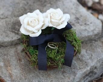 Ring Bearer Pillow Nest Rustic Nest Shabby Chic Weddings