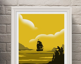 The Goonies Poster Art Print, Movie Poster, Wall Art, Minimalist Poster, Art Prints