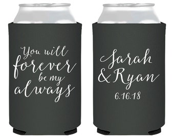 Wedding Favors Weddings You Will Forever Be My Always Reception Favor Custom