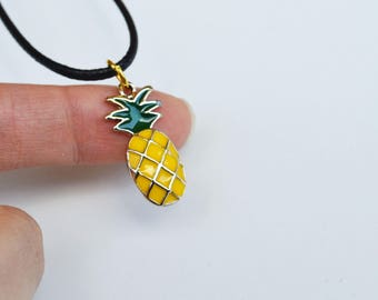 Pineapple Necklace, Pineapple Choker, Fertility Necklace, IVF Jewelry, TTC Jewelry, Summer Necklace, Pineapple Jewelry, Pineapple Choker