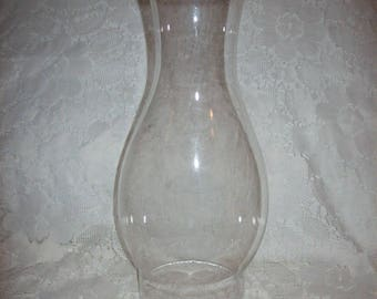 "Vintage Clear Glass Chimney Replacement Globe 9 1/2"" Tall Only 6 USD"