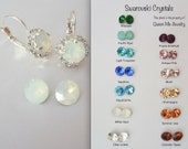 White opal crystal earrings, Swarovski crystal earrings, Halo, crystal earrings,Brides earrings,Wedding earrings,Bridesmaids earrings,SOPHIA