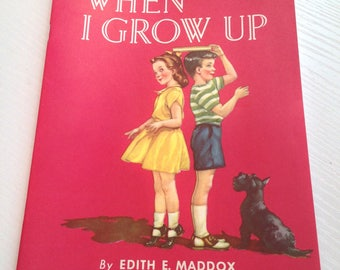 "1957 Vintage Dairy Council Booklet ""When I Grow Up"""