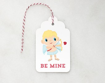 Valentine Gift Tags - Cupid - Gift Tags - Set of 6