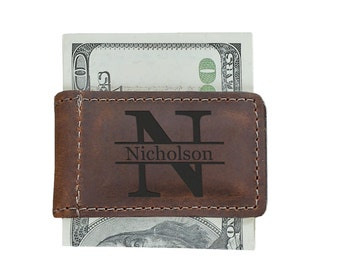 Engraved Money Clip, Gifts for Him, Leather Money Clip, Mens Personalized, Fathers day gift, Personalized Money Clips, Husband gift, Custom