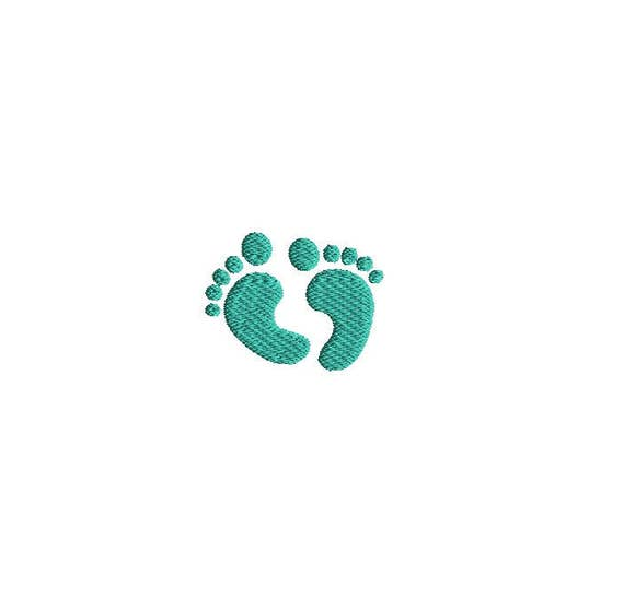 mini baby feet machine embroidery design instant download. Black Bedroom Furniture Sets. Home Design Ideas