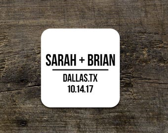Wedding Coasters, Custom Reception Coasters, Disposable Drink Coasters, Custom Paper Coasters, Wedding Favor, Bridal Shower Favors