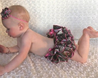 Beautiful Parley Ray Daddy's Girl REALTREE Camoflauge All Around Ruffled Skirt Baby Bloomers/ Diaper Cover Hunting