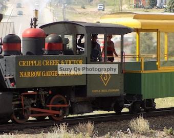 Steam Engine, OLD Steam Engine, Antique Steam Engine Train, Old Trains, Restaurant Art, Art for Business, Cripple Creek CO Steam Engine