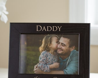 personalized dad picture frame custom engraved fathers day picture frame personalized fathers day gift new dad gift first fathers day