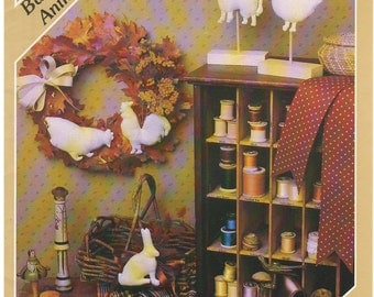 1983 - The Weathervane Patter Series By Yours Truely Vintage Sewing Pattern Barnyard Animals Stuffed Rooster Hen Cow Rabbit Goose Decor